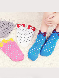 Women Cute Bow Socks Cotton Medium Socks