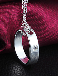 2016 New Hot Diamond Ring Section Silver Necklaces For Women&Lady