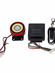 kit alarme de sécurité de moto protection contre le vol de la télécommande noire DC12V
