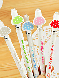 Motif champignon Black Pen encre gel (couleurs aléatoires 1PCS)