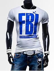 T-Shirts ( Algodão Organico ) MEN - Casual Redondo - Manga Curta