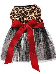 Cat / Dog Dress Dog Clothes Spring/Fall Animal Wedding / Leopard