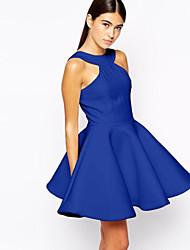 J.J.J Women's Party/Work Round Sleeveless Dresses (Cotton)
