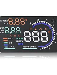 """5.5 """"nieuwe multi kleur auto head up display universele snelheidsoverschrijding waarschuwing OBD-II connector auto hud-display km / mijl"""
