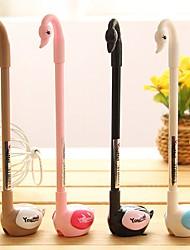 Cute Swan Stylish Multi Color Gel Pen (Random Delivery)