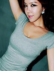 U-hals - Katoen Vrouwen - T-shirt - Korte mouw