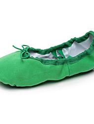 Non Customizable Women's/Kids' Dance Shoes Ballet Canvas Flat Heel(More Colors)