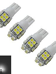 T10 Luci da arredo 20 SMD 3528 85lm lm Luce fredda DC 12 V 4 pezzi