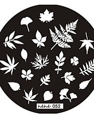 Плита с узорами для нейл арта, серия № 52