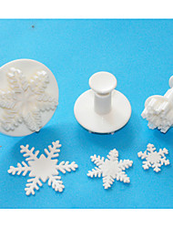 Four-C отлично снежинка Sugarcraft помады для украшения торта поршень катера, установлен рождественские темы Торт Инструменты
