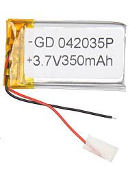 batterie polymère de 3.7v 350mAh lithium pour les téléphones portables mp3 mp4 (4 * 20 * 35)