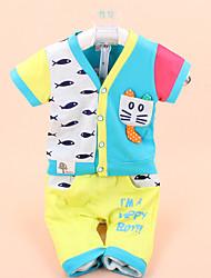 Boy's Summer Micro-elastic Medium ½ Length Sleeve Clothing Sets (Cotton/Lycra)