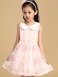 Girl's Summer Thin Sleeveless Dresses (Chiffon)
