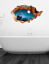 3d stickers muraux stickers muraux, salle de bains calmes de la mer mur décoration murale PVC autocollants