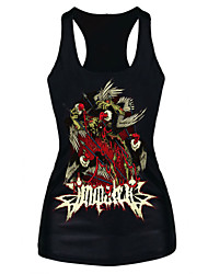Women's Fashion Ladies Demon Print Tank Top