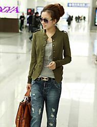 Women's Casual/Cute/Party/Work Medium Long Sleeve Regular Polyester/Cotton Blends)
