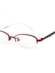 [Free Lenses] Metal Oval Half-Rim Fashion Prescription Eyeglasses