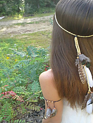 Feather Headband, Hippie Headband, Boho Headband, Bohemian Headband, Feather Headband + Bracelet (2pcs/set)