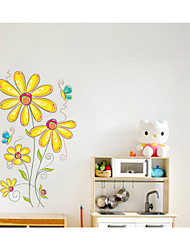 Wall Stickers Wall Decals, Butterfly Flower PVC Wall Stickers