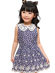 Girl's Cotton Dress , Summer Sleeveless