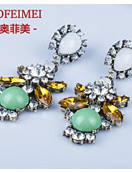European and American fashion jewelry vintage diamond earrings gemstone earrings