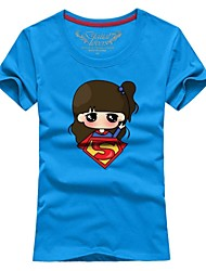 Ms. Couples summer short sleeve T-shirt new superman # 028