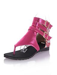 Women's Shoes Flat Heel T-Strap Sandals Dress More Colors Available