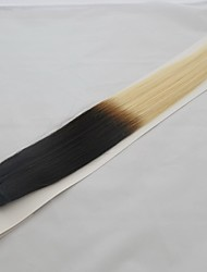 "3pcs LOT 12""-22"" Dark Root Human Hair Weft Weaving Extensions 2-tone 1BT613 Black Blonde Multi-color Silky Straight 300g"