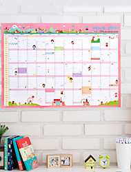 Calendar Cute/Multifunction Paper Pink Planners Schedules