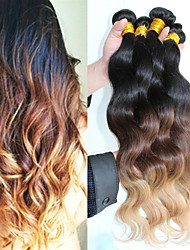 3Pcs/Lot Ombre Brazilian Hair Unprocessed Ombre Body Wave 1B#4/27 Human Hair Weave