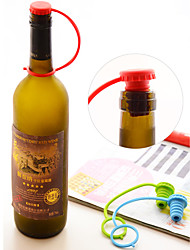 Kitchen Anti-lost Spice Jar Plug Silicone Gel Beer Bottle Stopper with Strip(Random Color)