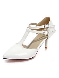 Pompes / Talons ( Noir/Jaune/Vert/Rouge/Blanc Chaussures à talons/Bout fermé - Talon aiguille - Poil de veau - pour FEMMES