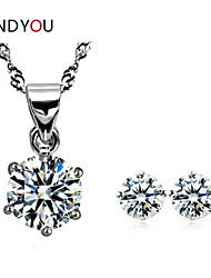 Women's Alloy Jewelry Set Cubic Zirconia