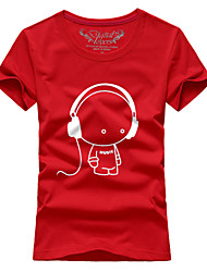 Ms. Couples summer short-sleeved t-shirts headphones # 061