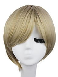 Women Synthetic Blonde Wig Straight Short Capless Wigs