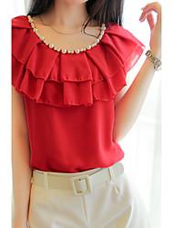 Women's Sexy Casual Micro Elastic Sleeveless Regular Shirt (Cotton)