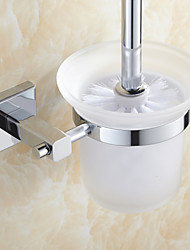Bathroom Accessories Chrome Finish Brass Material Toilet Brush Holder