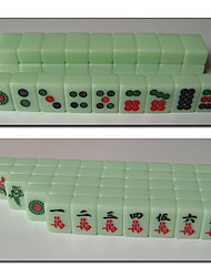 Poketable Travel Mahjong Emerald Green Mini Game Tiles Play Set 21mm