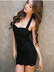 Vestidos ( Tela de Encaje )- Sexy Tirantes Sin Mangas para Mujer