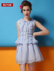 vestido sin mangas de la raya de la moda clásica delgada suyue® nuevas mujeres de la manera