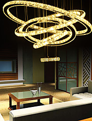 Ceiling Lights Crystal/LED Modern/ Living Room/Dining Room/Hallway/D80+60+50+30+16cm Crystal Ring/Warm White Light