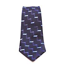 Gravatas (Azul Escuro , Seda) Listrado