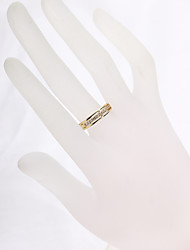 Sjeweler Ladies Girls 18K Gold Plated Wedding Zircon Ring