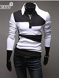 SPCZ® Men's Long Sleeve T-shirt Color Fashion Joker