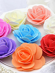Wedding Décor PE Foam Rose Accessories (Set of 50 Random Distribution Excluding Accessories)