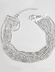 prata banhado ocasional link / cadeia pulseira pulseiras e braceletes pulseiras da amizade venda quente