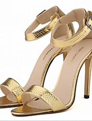 Women's Shoes Stiletto Heel Peep Toe Sandals Dress Pink/Red/Silver/Gold