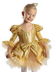 Children's Performance Gold Ballet Dresses Costume Kids Dance Costumes