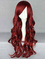 The New Wig Anime Characters Wine Red  Curly  Hair Wigs