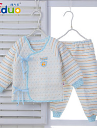 Newborn Baby Clothing Infant Cute Striped Pure Cotton Bandage 2 Piece Outfits